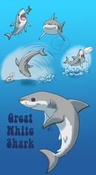 SHARK WEEK 2014 #6- Great White by comixqueen