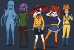 Humanized Genderbent Fearsome Five