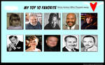 My Top 10 Voice Actors Who Passed Away Meme
