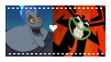 CM - Hades x Aku stamp by Kitty-McGeeky97