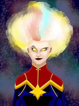 Captain Marvel (Carol Danvers) Portrait