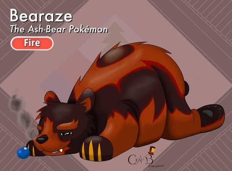 Bearaze, the Ash-Bear Pokemon