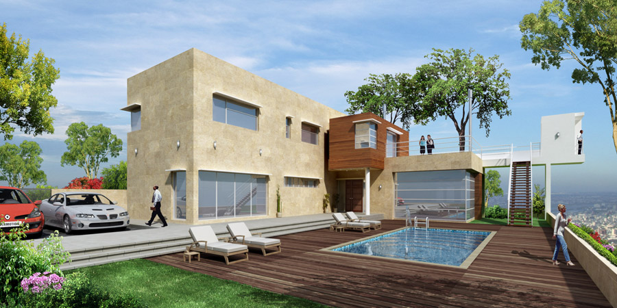 Private villa perspective dayshot by rainwalker007 on deviantart - Image villa ...
