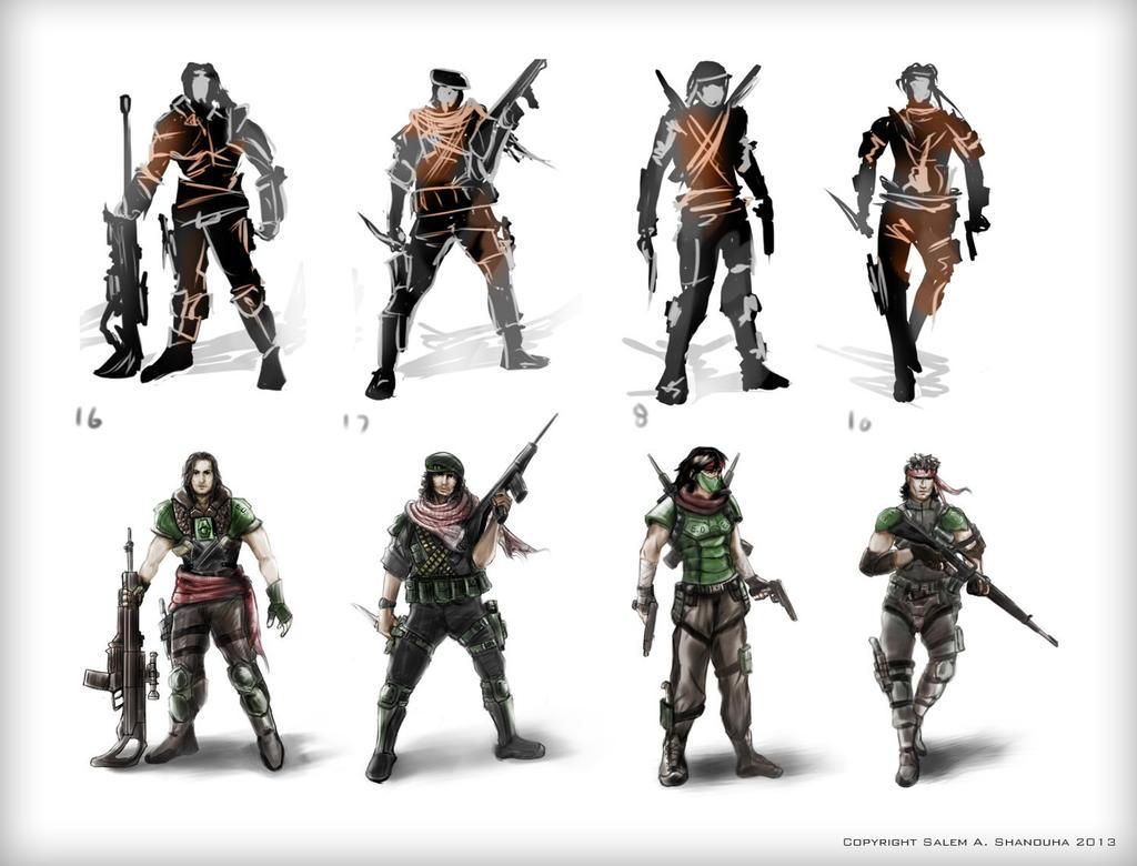 Game Character Design Tutorial : Game character development by rainwalker on deviantart