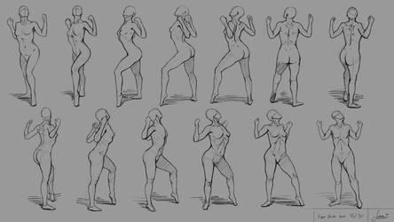 Figure Drawing no.13 (Turntable Figure) by rainwalker007