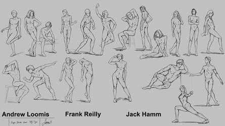Figure Drawing Session 14 by rainwalker007