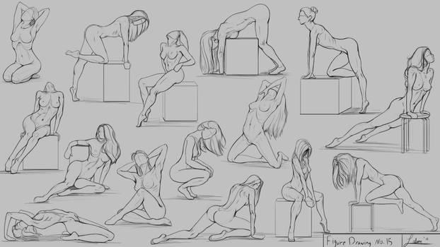 Figure Drawing No.15 using the Peanut method