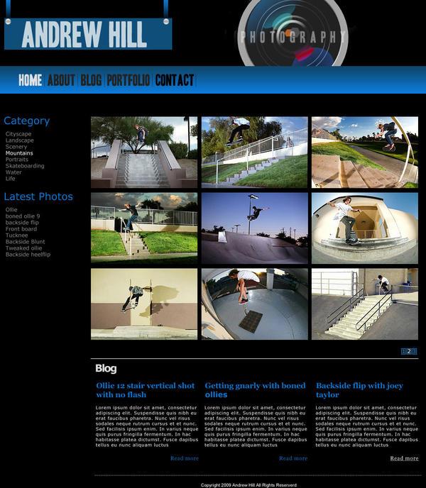 Portfolio Design for Wordpress by Marc3ll