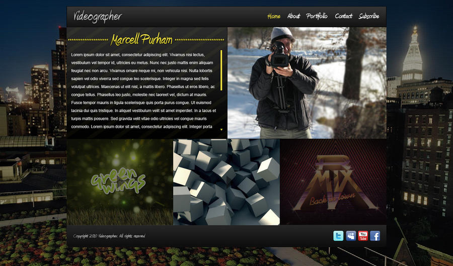 Videographer Website Portfolio by Marc3ll