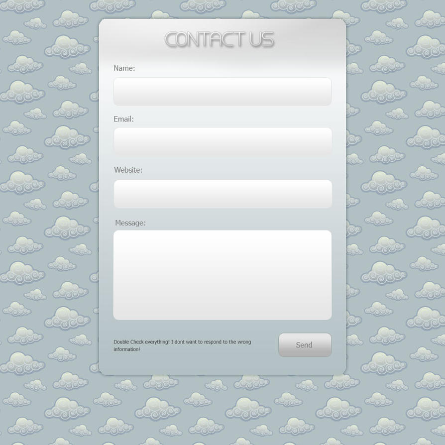 Beautiful Contact Form by Marc3ll