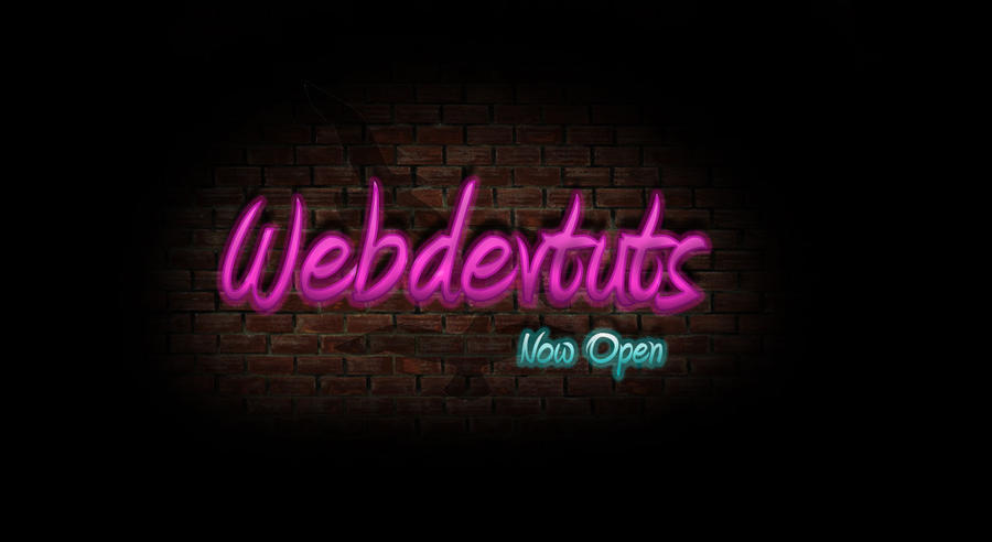 Neon Text Effect by Marc3ll