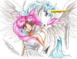 Chibi Usa and Pegasus