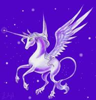 TLU styled winged unicorn by pegacorn