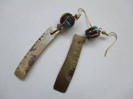 metals and glass earrings by sun-design09s-trent