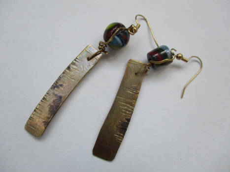 metals and glass earrings