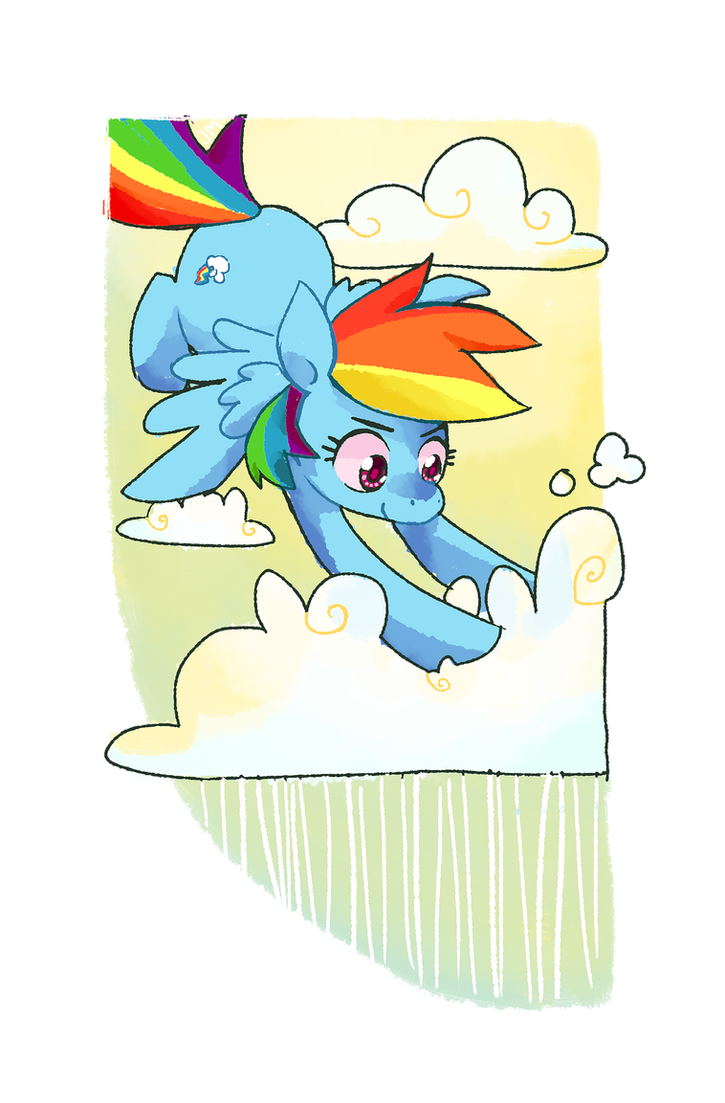 Rainbow Dash Clearing the Skies by Nifty-senpai