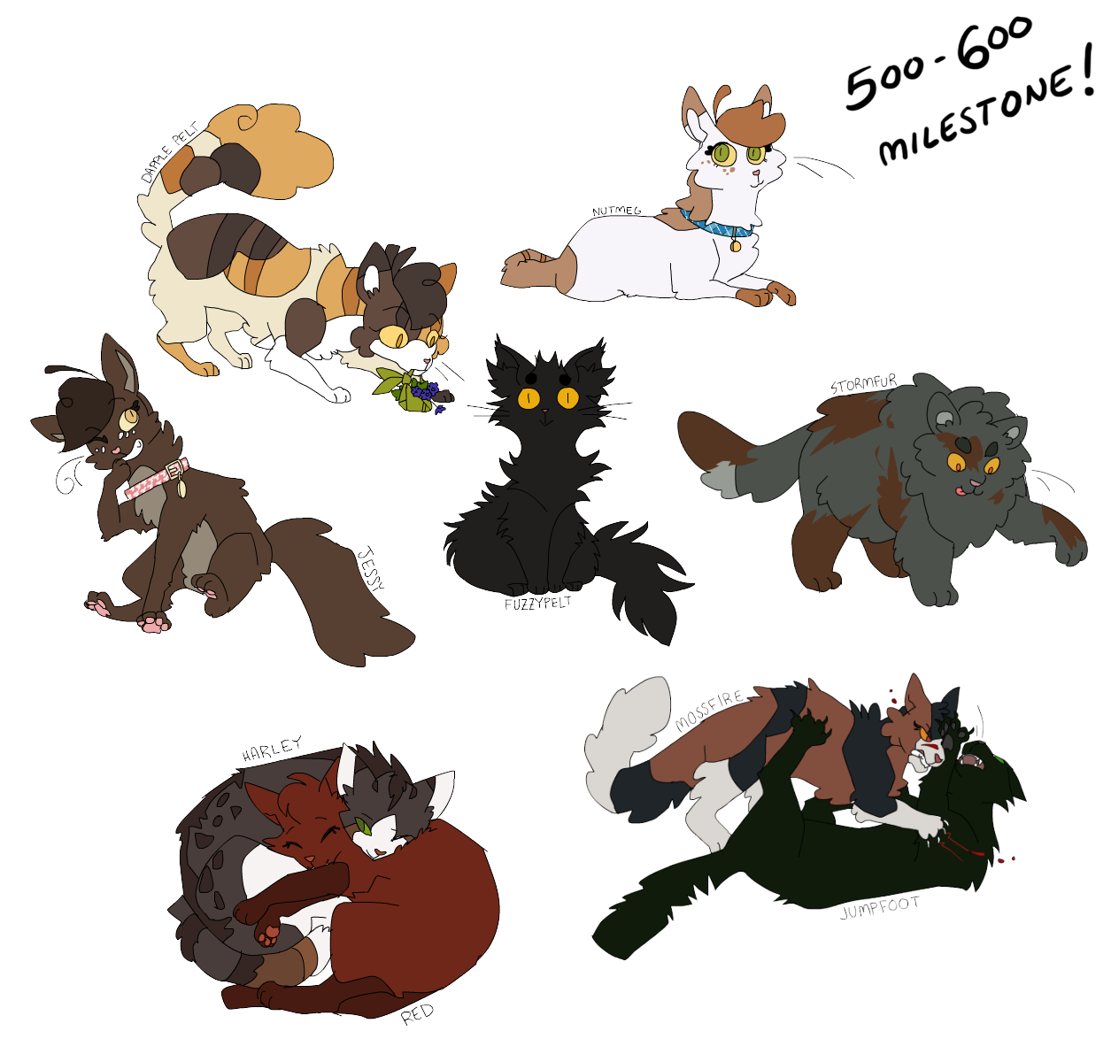Nifty Senpai Warrior Cat Designs