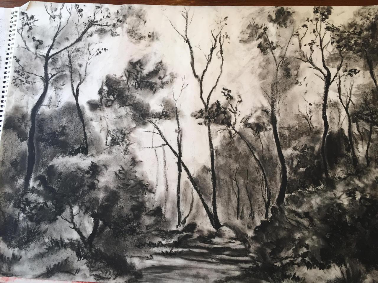 landscape charcoal sketches - photo #20