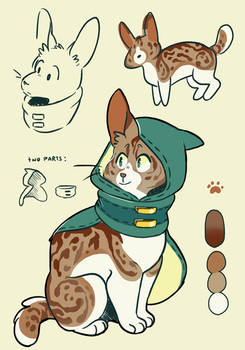 Hooded Cat Adoptable [closed]