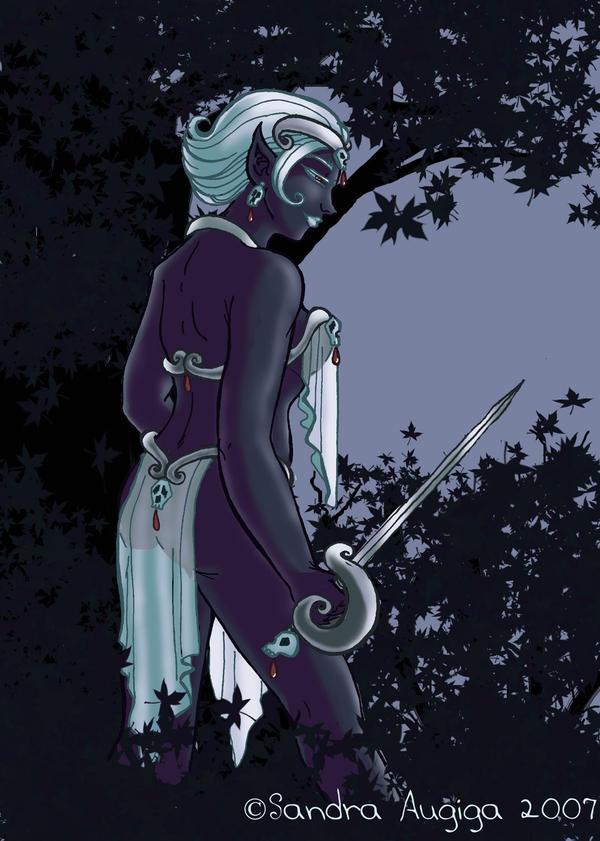 Lady Drow by Sandraugiga
