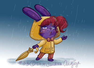 Daily art # 33 Rainy day by Sandraugiga