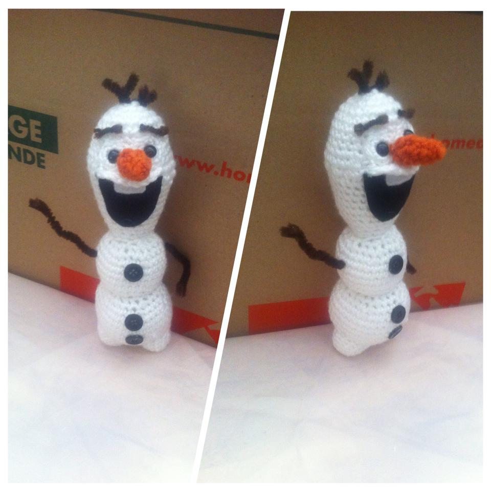 Olaf Crochet Doll w/pattern by UrCrochetGal on DeviantArt