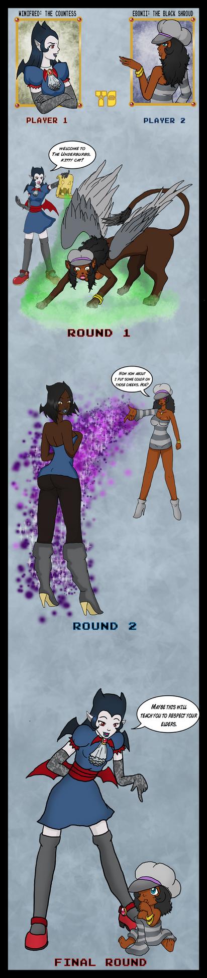 TF Battles: Winifred vs Ebonii by Wrenzephyr2