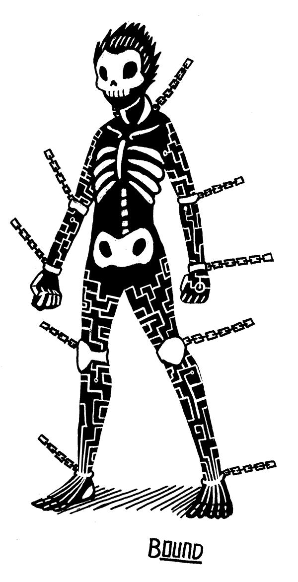 Skull Bound by Wrenzephyr2