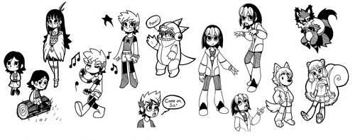 InkedMenagerie Doodles 1 by Wrenzephyr2