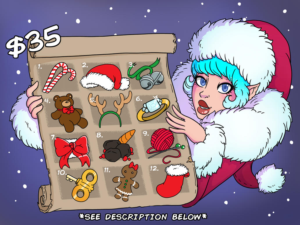 [SOLD OUT] Miss Snow's 12 Baes of Christmas by Wrenzephyr2
