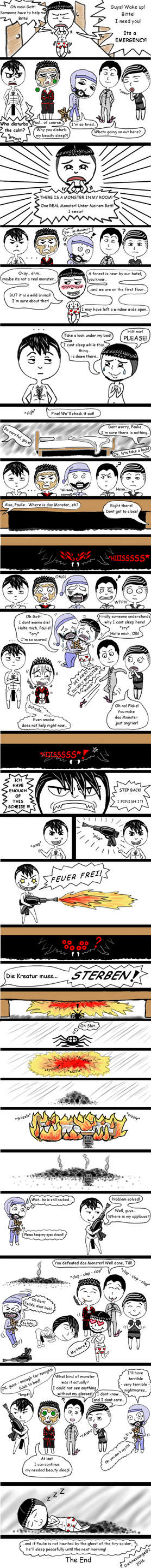 Rammstein Comic - Monster Under The Bed by Darknessangel92
