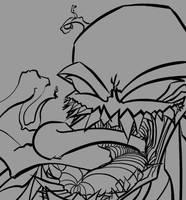 Venom - Sketch lines by Bubblegumboots