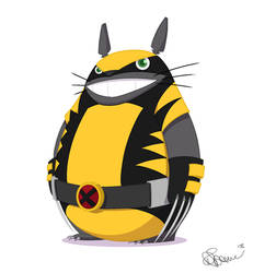 Totoro x Wolverine by Bubblegumboots