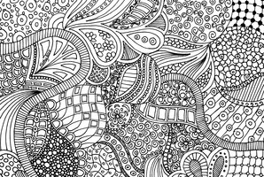 Awakening Zentangle Doodle Drawing Lineart By  by lorenigama