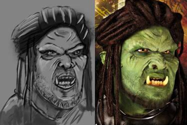 Orc Portrait - Sketch