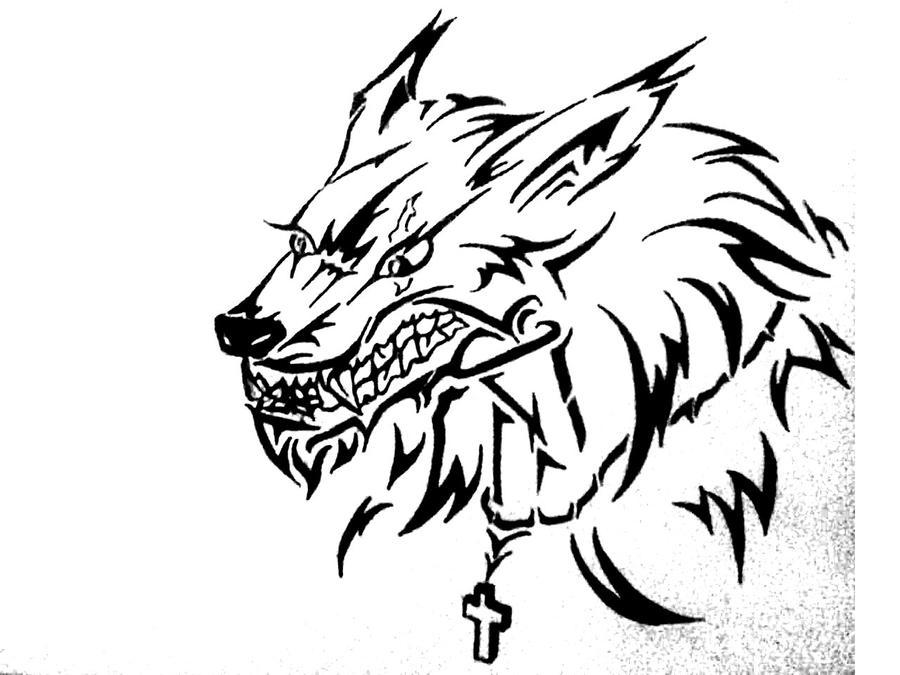 tribal werewolf tattoo by soldiersfate on deviantart