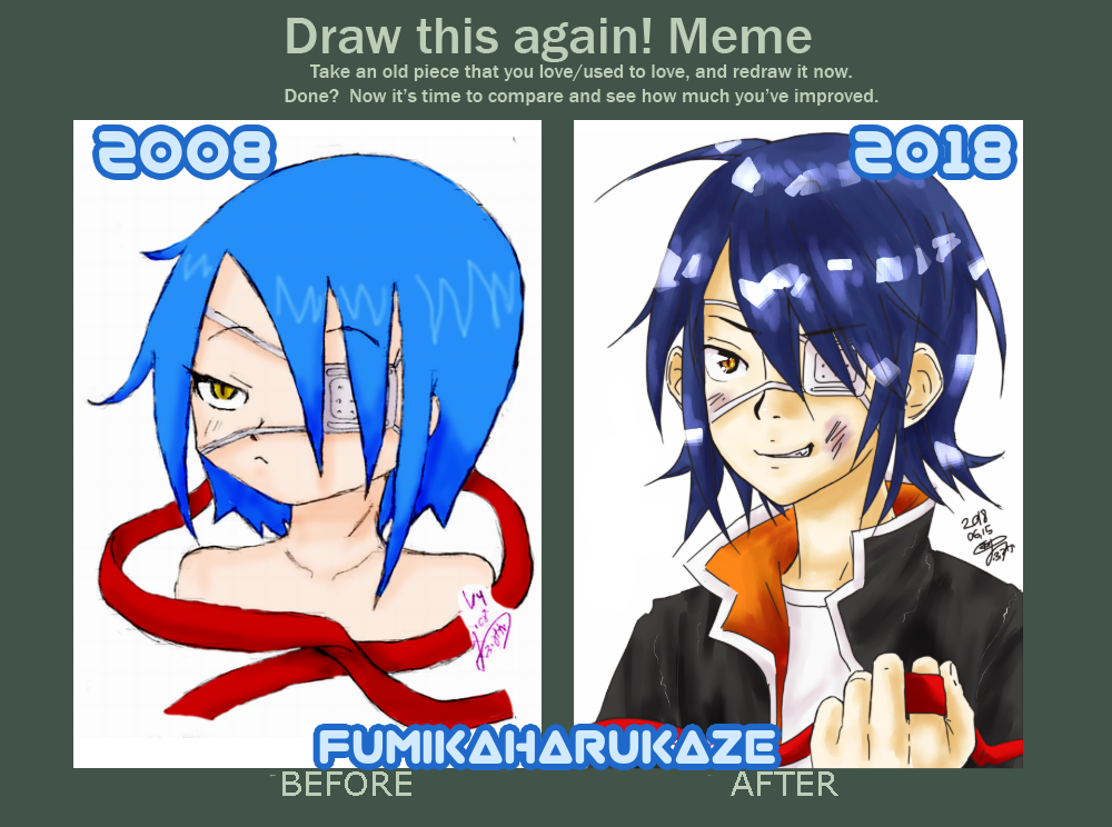Draw this again! 2008 - 2018 Agito by fumikaharukaze