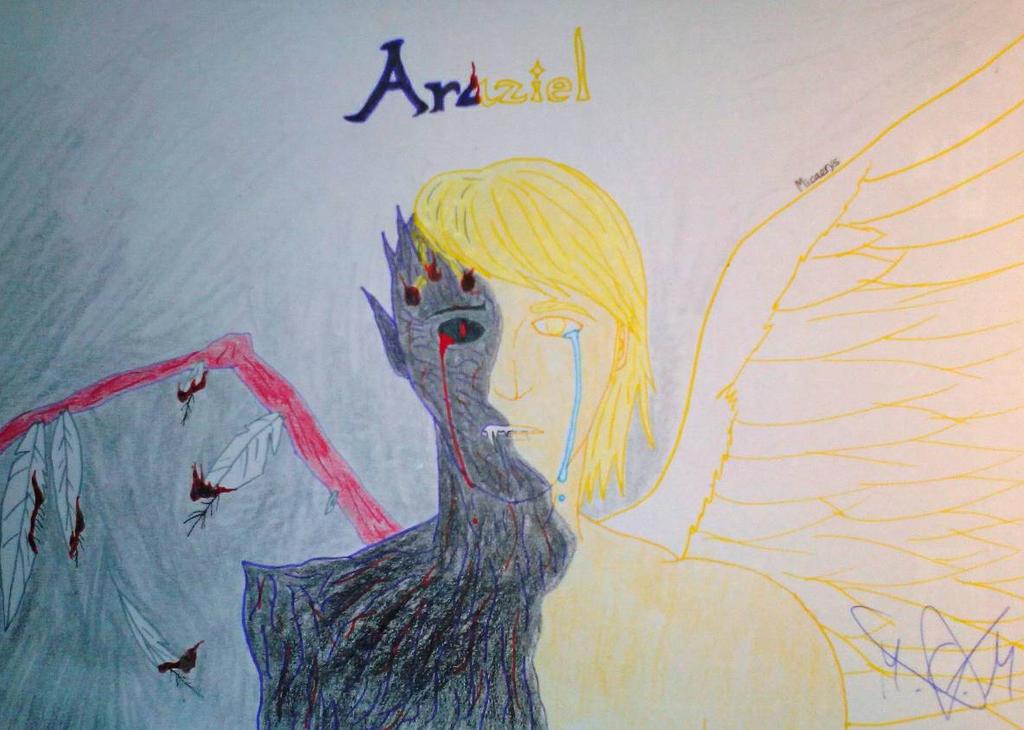 Araziel, the fallen angel by Micaerys