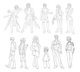 Characters Compilation by MoonLightSpectre