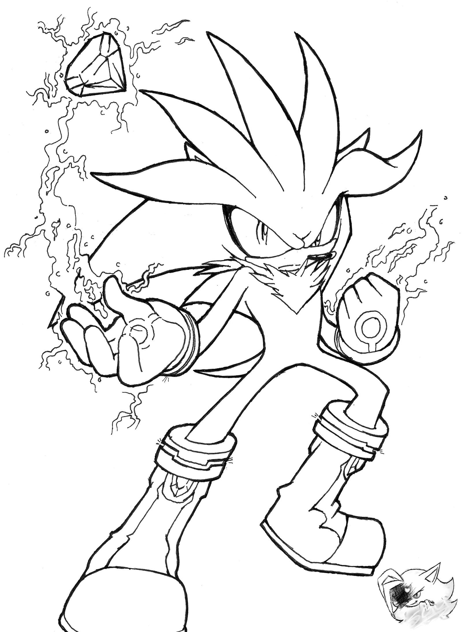 Silver the Hedgehog - Line Art by SonicGirlGamer71551