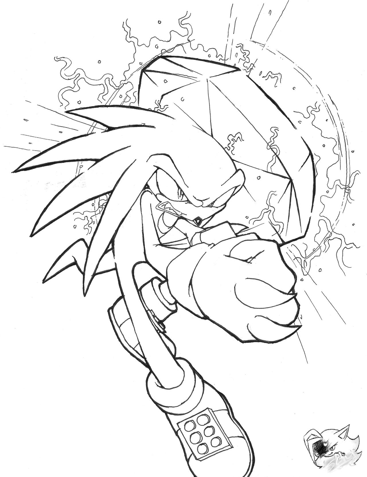 knuckles the echidna coloring pages - photo#24