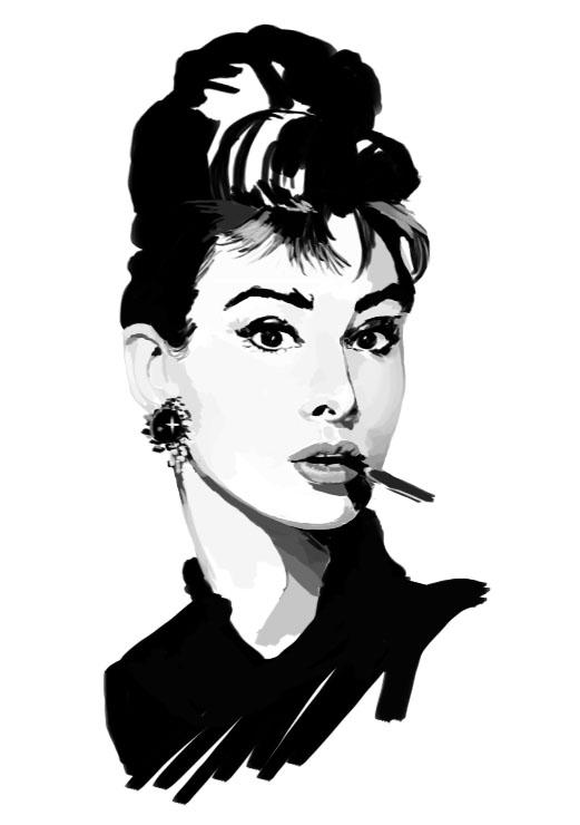 Audrey Hepburn by Donlvir