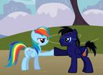 Brohoofing with Rainbow Dash