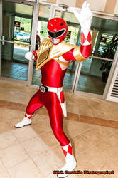 Red Armored Ranger by dekamexican