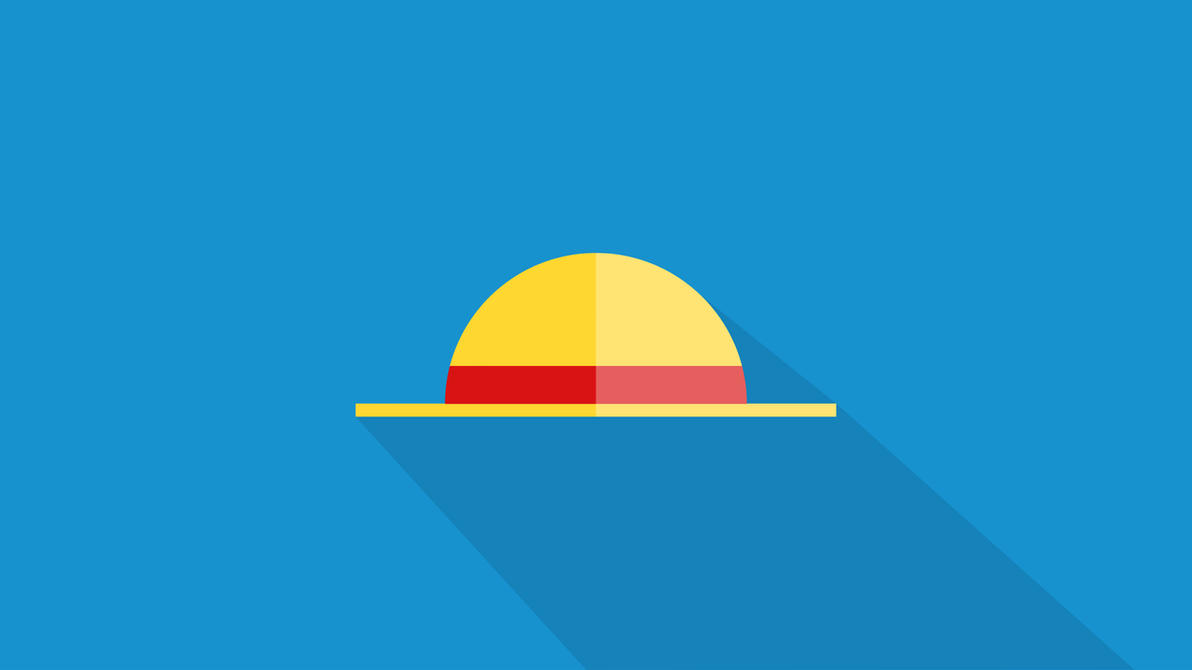 One piece luffy mugiwara minimalist flat by parheli on for Minimalist art pieces