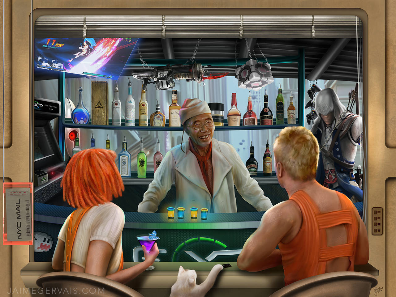 Exp Restaurant and Bar meets the Fifth Element by JaimeGervais
