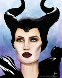 Maleficent - iPad Procreate sketch
