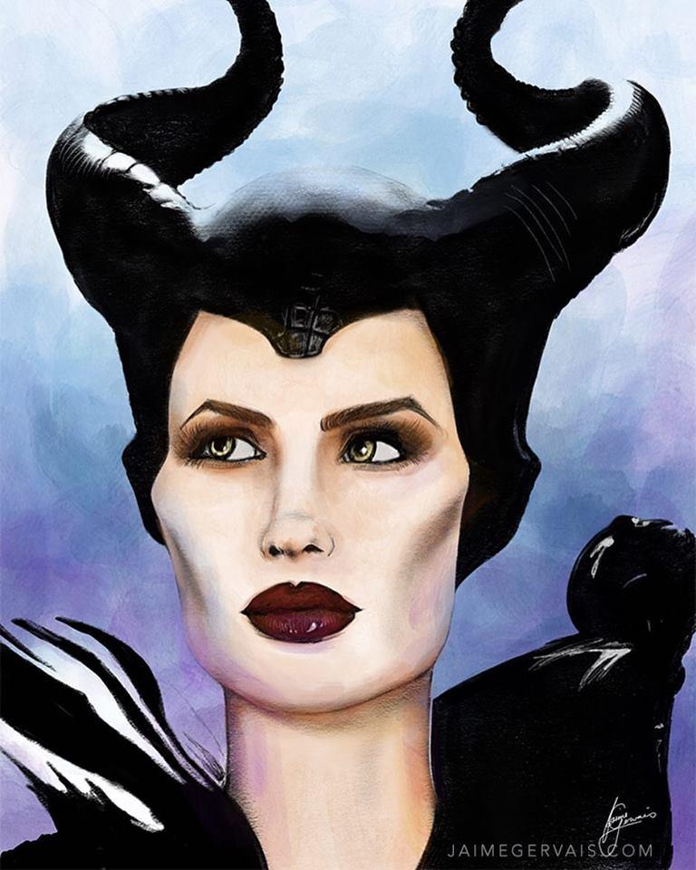 Maleficent - iPad Procreate sketch by JaimeGervais