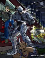 Robocop VS Ed209 by Mindchamber