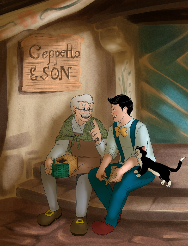 Geppetto and Son by badboyLampwick
